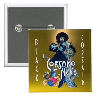 THE BLACK CORSAIR gem dark yellow Button