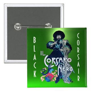 THE BLACK CORSAIR gem green Button