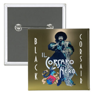 THE BLACK CORSAIR gem grey Button
