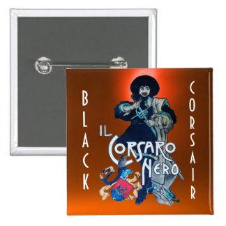 THE BLACK CORSAIR gem orange Pinback Button