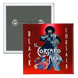 THE BLACK CORSAIR gem red Pinback Button