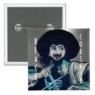 THE BLACK CORSAIR gem white Button