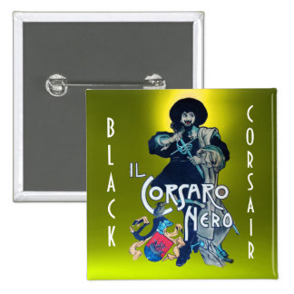 THE BLACK CORSAIR gem yellow Pinback Button