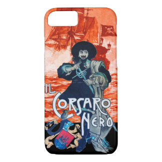 THE BLACK CORSAIR /Pirate Ship Battle In Red iPhone 7 Case