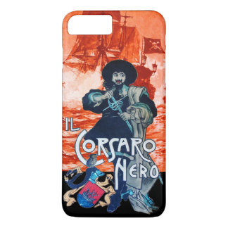 THE BLACK CORSAIR /Pirate Ship Battle In Red iPhone 7 Plus Case