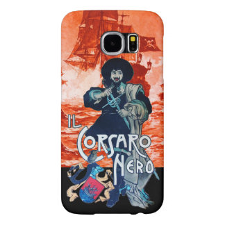 THE BLACK CORSAIR /Pirate Ship Battle In Red Samsung Galaxy S6 Case