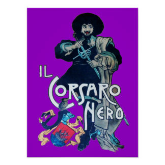 THE BLACK CORSAIR  purple Poster