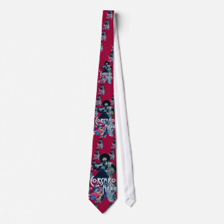 THE BLACK CORSAIR red burgundy Neck Tie