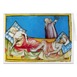 The Black Death from the Toggenburg Bible 1411 Greeting Cards