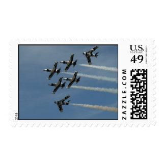 The Black Diamond Jet Demonstration Team. Postage Stamps