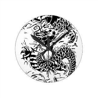 The Black Dragon Round Clock