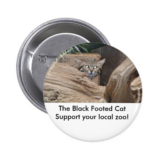 The Black Footed Cat 2 Inch Round Button