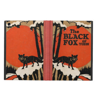 The Black Fox of Yukon Vintage Book Cover Style