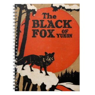 The Black Fox of Yukon Vintage Book Story Cover Spiral Notebook