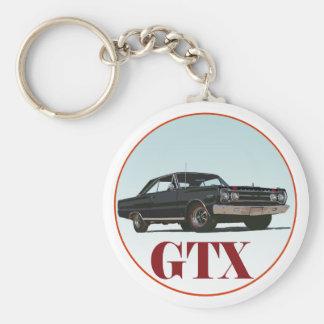 The Black GTX Basic Round Button Keychain