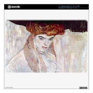 The Black Hat by Gustav Klimt Decal For MacBook Air