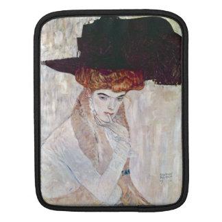 The Black Hat by Gustav Klimt Sleeves For iPads