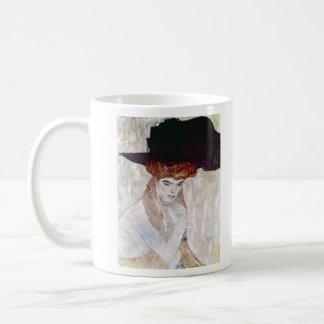 The Black Hat by Gustav Klimt Mugs