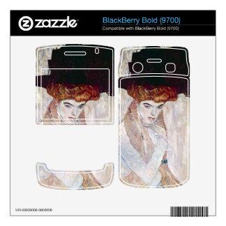 The Black Hat by Gustav Klimt Skins For BlackBerry Bold