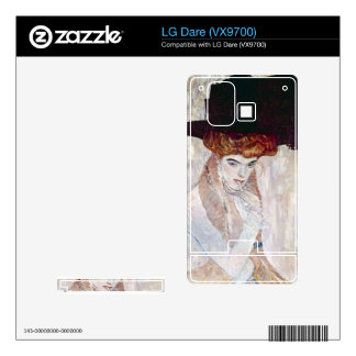 The Black Hat by Gustav Klimt Decal For LG Dare