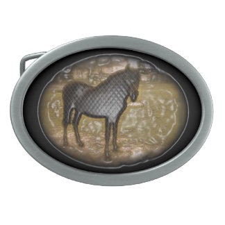The Black Horse Belt Buckle
