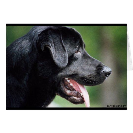 The Black Labrador Card