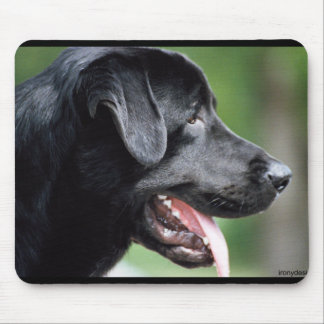 The Black Labrador Mouse Pad