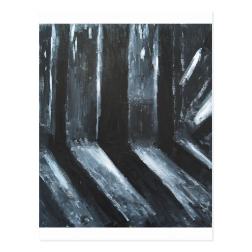The Black Leaking Light(light symbolism) Postcard
