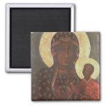 The Black Madonna of Jasna Gora 2 Inch Square Magnet