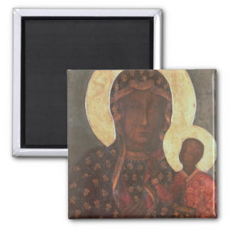 The Black Madonna of Jasna Gora 2 Inch Square Magnet