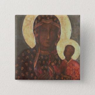 The Black Madonna of Jasna Gora Pinback Button