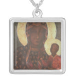 The Black Madonna of Jasna Gora Square Pendant Necklace