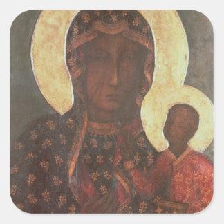 The Black Madonna of Jasna Gora Square Sticker