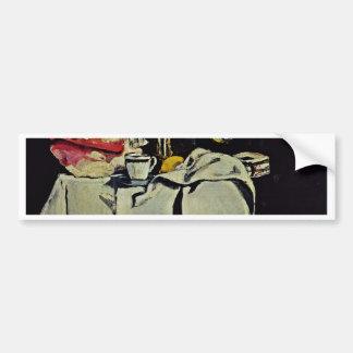 The Black Marble Clock By Paul Cézanne Car Bumper Sticker