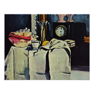 The Black Marble Clock By Paul Cézanne Personalized Invite