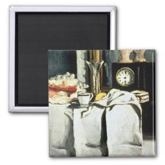 The Black Marble Clock, c.1870 2 Inch Square Magnet