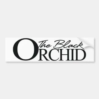 The Black Orchid Bumper Sticker