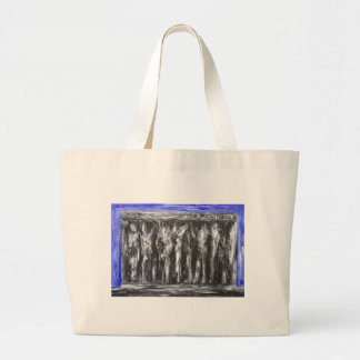 The Black Parthenon (architectural surrealism) Tote Bags