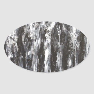 The Black Parthenon (architectural surrealism) Oval Sticker