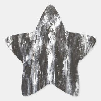The Black Parthenon (architectural surrealism) Star Sticker