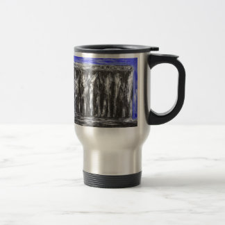 The Black Parthenon (architectural surrealism) Travel Mug