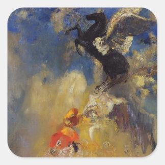 The Black Pegasus  by Odilon Redon Square Sticker