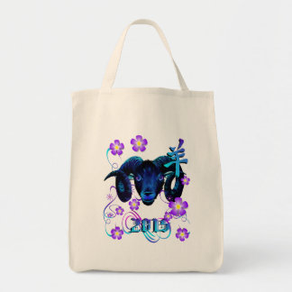 The Black Ram-flowers Tote Bag