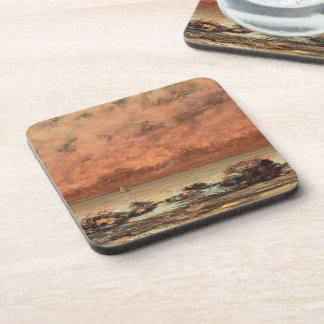 The Black Rocks at Trouville, 1865- 66 Beverage Coaster