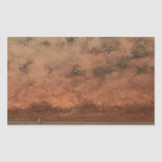 The Black Rocks at Trouville by Gustave Courbet Rectangular Sticker