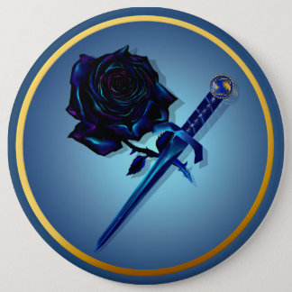 The Black Rose and Dagger Button