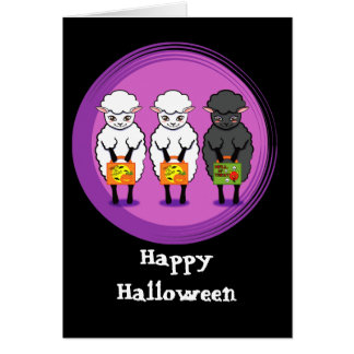 The black sheep Halloween Greeting Card