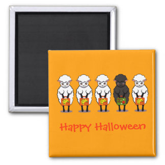 The black sheep Halloween Magnet