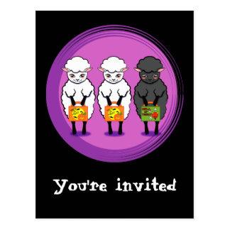 The black sheep Halloween Postcard