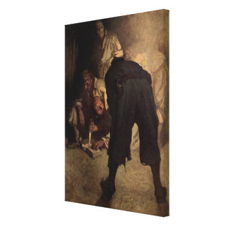 The Black Spot - N C Wyeth Gallery Wrap Canvas